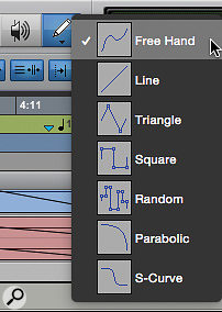 Screen 5: There are no fewer than seven Pencil tool options.