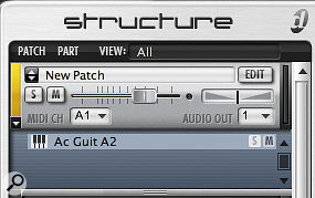 By default, Structure has named my patch 'New Patch' and the sub-patch after the name of the first sample. Editing these to something meaningful will help keep track of the project in the long run (below).