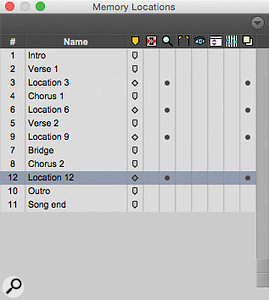 Before and after: by saving a  Type 0 MIDI file, wiping the Markers from your session and then re–loading the MIDI file, your Markers are magically reordered!