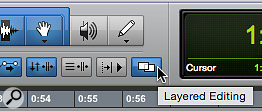 Screen 2: Layered Editing has its own toolbar button.