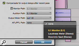 Screen 1: In Pro Tools 12, you can define a  PFL/AFL path, enabling tracks to be soloed without affecting the main mix.