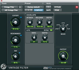 Vintage Filter: an interesting alternative to reverb and delay.