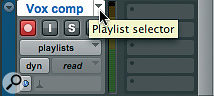 Command-Ctrl‑clicking (Windows: Ctrl-Alt‑clicking) on the Playlist selector button toggles the lane display on and off.