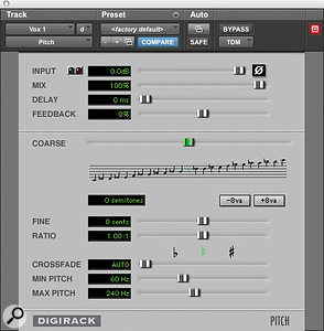 4: By automating the built-in Pitch plug-in, the 'Cher effect' is easily achievable.