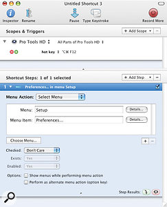 You can browse the Pro Tools menu structure from within QuicKeys and choose the item to assign to your key command.