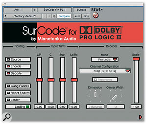 Pro Tools: Surround Sound Encoding Plug-ins