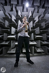 Professor Trevor Cox in the anechoic chamber at Salford.