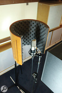Some of the listening room's acoustic treatment was removed to create an area of clear wall, similar to what might be found in a  domestic room. A  Rode NT2A in cardioid was used to capture the impulse responses.