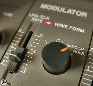 Using noise as a modulation source can be a great way to destabilize oscillators and filters.