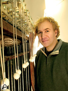 Many of the instruments in the orchestrion were created by Eric Singer of LEMUR.
