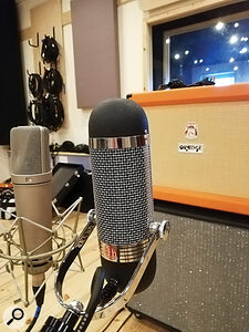 One of Grant's self-imposed rules for the recording of Viscerals was that the AEA R84 ribbon microphone be used on every source.