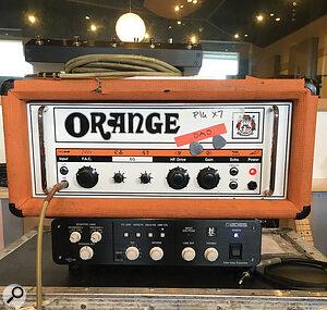 Rhythm guitars were tracked through Grant's Orange OR80 head.