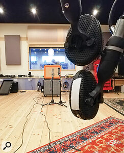 All the guitars were recorded in stereo, with an AEA R84 and Neuman U87 up close and a  pair of Coles 4038s set up further back.