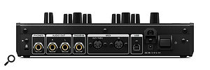 The AS-1's rear panel hosts quarter-inch sockets for headphones, stereo outputs and trigger inputs, MIDI I/O sockets and a  USB port.