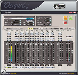 The Control Panel software is used to manage nearly all of the Orpheus's functions.