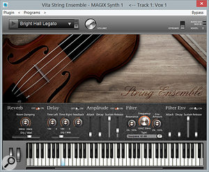 The Vita String Ensemble is bundled only with the Suite version of Pro X2, but can be bought separately from Magix's web site.