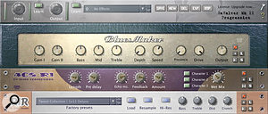Progression's guitar samples can be routed through the bundled version of Revalver SE.