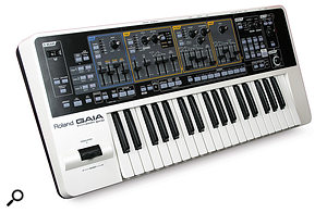The output of most synths and keyboards like this Roland Gaia, for example, will work fine with most audio interface line inputs, without the need for a DI box.