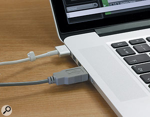 Running your laptop from its AC power supply can sometimes complete a  ground loop — and in some cases that can be very bad news for the performance of a USB D-A converter.