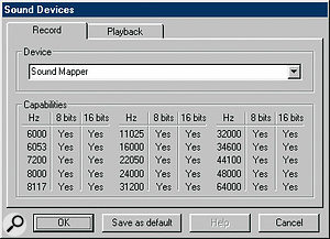 Now that the majority of audio interfaces have ASIO drivers, Microsoft's Sound Mapper device is almost completely redundant. However, in some cases it can be useful. For example, if you need to play old multimedia files, Sound Mapper can be used, as it can play back files with sample rates as low as 6kHz.