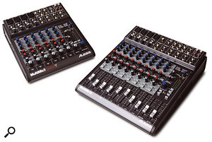 Alesis' Multimix Firewire 8 (right) and 12 (left) combine the convenience of a built-in Firewire interface with the layout and routing options offered by a conventional mixer.