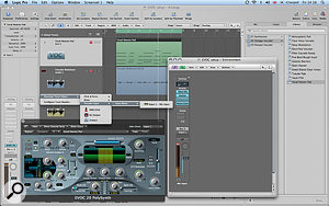 The EVOC Vocoder plug-in itself has been loaded on the Inst 1 (VOC) track, while the audio being used as the modulator is on audio track 1. You can also see the mic input that has been created in the  Environment layer on the right of the screen, and how this is then accessible from the Arrange page.