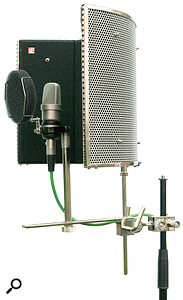 1. AReflexion Filter assembled according to the manufacturer's instructions. The centre of gravity is quite some distance from the supporting mic stand pole.