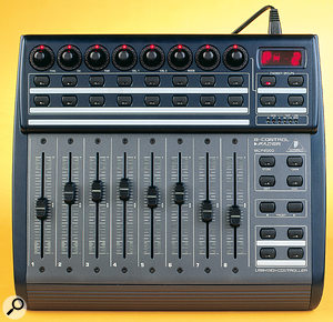 They may not be touch-sensitive, but the motorised faders on the Behringer BCF2000 are a bonus at this price point.