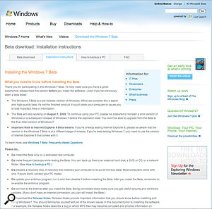 Windows 7 has been available as a public Beta for up to 2.5 million members of the public, but is not expected to be officially released until late  this year at the soonest.