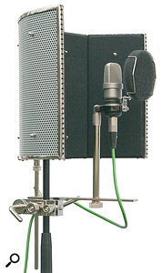 7. The reconfigured assembly is better balanced, with its centre of gravity much closer to the microphone standpole.