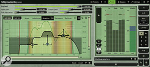 A dynamic equaliser such as Melda's MDynamicEQ is one of the best tools for dealing with the harsh–sounding single–frequency resonances generated by some singers.