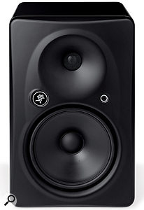 The Mackie HR 824 MkII is one of the the few compact studio monitors that currently uses a passive radiator, located on the rear panel behind the amplifier chassis.