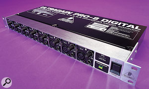 Expanding the number of inputs in your setup can be done at arelatively low cost. This Behringer ADA8000 can be found for well under <UK>£200</UK><US>$250</US> and will give you an extra eight inputs to play with.