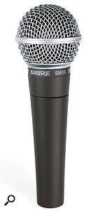 The SM58 is better known as avocal, guitar and snare mic than anything else — but can it be pressed into service as akick-drum mic?