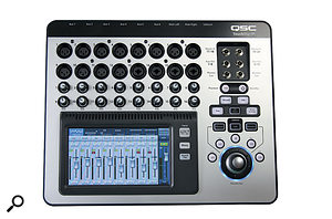 The TouchMix 16 has 16 mic inputs plus a  further two stereo line-ins, and eight line outputs, including the six auxes and the main stereo mix.