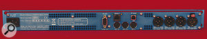 The rear panel of the 2496 Yardstick. All the audio I/O is presented on AES3 XLR sockets, while MIDI, Ethernet, USB and RS232 connectors provide remote‑control functionality.