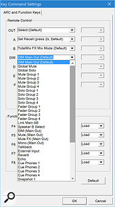 Some of the buttons on the front of the Babyface Pro can be configured to perform different actions in TotalMix FX. Here, I'm reconfiguring the behaviour of the Dim button.