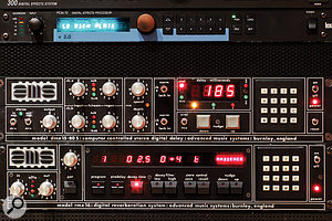 With the addition of a separate board called the DMX 15R, AMS's DMX 15-80S delay (centre) could produce digital reverb. The now-classic RMX16 (bottom) was in effect a single-box version of this combination, and was hugely successful. This fine-looking pair occupy rack spaces in Henson Studios.