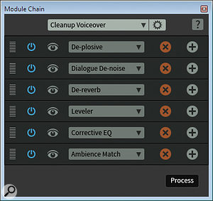 The Module Chain feature allows multiple RX processes to be combined into a  single macro.