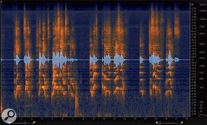 14: The final result — my problematic audio file has been fully cleaned up with both hum removal and broadband noise reduction.