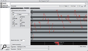 3. The ReaTune plug-in in automatic correction mode.