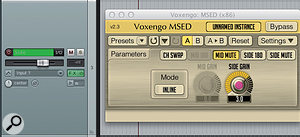 3. The Sides Gain is boosted on the MSED plug-in window to enhance stereo field and effects depth.