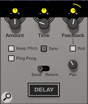 Screen 4. The Delay effect's Roll and Keep Pitch modes offer loads of creative mangling opportunities.