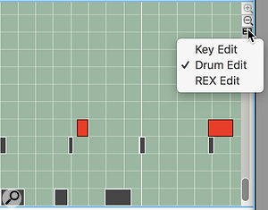 Screen4: Tracks can be switched between views if you need to view drums or slice triggers against regular MIDI notes.
