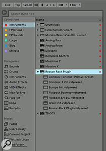 Screen 1. You can save time by adding the Reason plug-in to your Collections. Any presets you save will also appear here.
