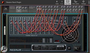 Screen 3. Signals from inside the Rack can be split out to Live's mixer via the I/O Device.
