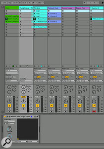 Screen 6. The Reason Effect plug-in can be added to a Group submix.