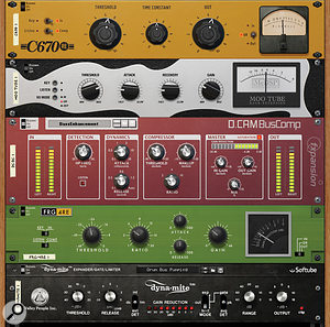 There's now every style of compressor available for Reason, from delicate mastering tools to more heavy‑handed 'character' treatments.