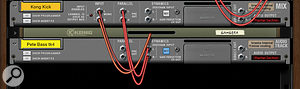 4: Each Mix Channel device has an input for keying the Channel Dynamics
