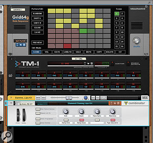 Screen3: Robotic Bean's TM‑1 Trigger Multiplexer lets you map gate triggers to specific sounds on your RE or plug‑in instrument.